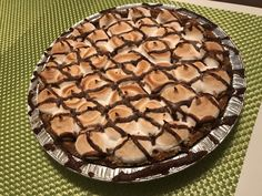Edwards S'Mores cream pie. I got this free from BzzAgent and loved this right from the first spoon. Amazing chocolatey cream pie !! Delicious and no baking required !! #GotItFree , #OwnTheOccasion, @edwardsdesserts