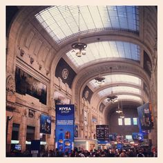 12} Leaving from Milano Centrale and heading to Venice.  GREAT weather in Milan hope it continues in Venice!