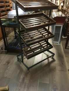 Vintage Style Shoe Trolleys at D and A Binder I Good morning! Starting off Sunday with this gorgeous shoe trolley, perfect as a prop, an ideal piece for garden storage or a mobile display in your store! We have various types of these trolleys and stock varies, so come instore for our full range! #ShoeTrolleys #Shoes #Trolley #Trolleys #Wooden #WoodenTrolleys #Mahogany #Iron #Decor #GardenDesign #Interiors #Decor #InteriorDecor #HomeDecor #Interior #Home #ShopDesign #Garden #ShopDisplay…