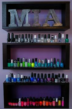 15 trendy bathroom ideas for teen girls organizing nail polish Bedroom Setup, Dream Bedroom, Girls Bedroom, Bedroom Decor, Bedrooms, Girl Room, My Room, Teen Room Designs, Daughters Room
