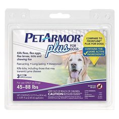 PetArmor Plus Flea  Tick Spot On Dog 4588 lb 3 ea 3 pack >>> Read more reviews of the product by visiting the link on the image. This Amazon pins is an affiliate link to Amazon.
