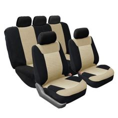 FH Group Full Set Airbag Safe Beige Seat Covers