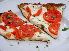 Everything Tasty from My Kitchen: Margherita Cauliflower Crust Pizza