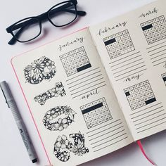 The future log in your bullet journal gives you a yearly overview of the year. See how to set up a bullet journal future log or use my free PDF pritnable. The cleverest bullet journal ideas. Bullet Journal Yearly, Bullet Journal Index, Bullet Journal How To Start A, Bullet Journal Notebook, Bullet Journal Ideas Pages, Bullet Journal Layout, Bullet Journal Inspiration, Journal Pages, Bullet Journals