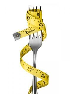 Weight-loss-and-dieting-fork-and-yellow-tape