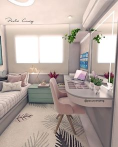 Interior Living Room Design Trends for 2019 - Interior Design Teen Room Decor, Room Ideas Bedroom, Small Room Bedroom, Home Bedroom, Bedroom Decor For Kids, Bedroom Ideas For Small Rooms For Girls, Tumblr Bedroom Decor, Teen Bedroom Colors, Room Decor Bedroom Rose Gold
