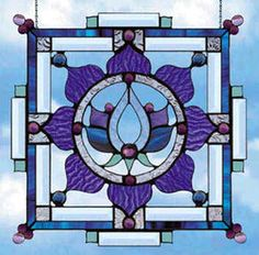 stained glass lotus yantra