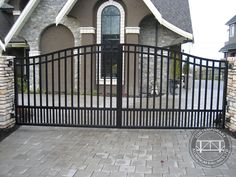 Contemporary Aluminum Railings specializes in custom gates, from automated driveway gates and security man gates to any standard railing gate. Description from contemporaryrailings.com. I searched for this on bing.com/images