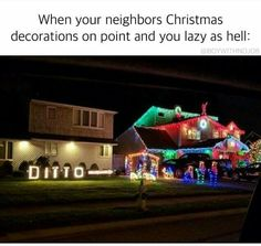 Americans are obsessed with holiday decorations .....