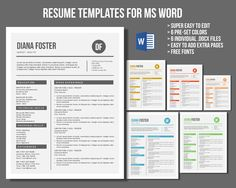 Sky Resume Template  Cover Letter  Cool Resumes Beautiful And