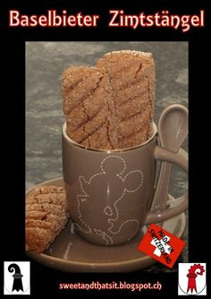 Sweet and That's it: Made in Switzerland: Basel Cinnamon Sticks - Bastoncini alla Cannella di Basilea Your Recipe, Cinnamon Sticks, Sweet Treats, Yummy Food, Cookies, Mugs, Baking, Mondays, Tableware