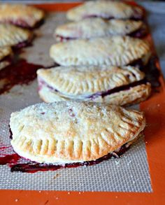 The flaky golden crust of these blackberry turnovers is no match for the delicious blackberries inside.