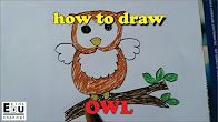 Easy way to draw a beautifull owl -Drawing and coloring page with EDU kids channel