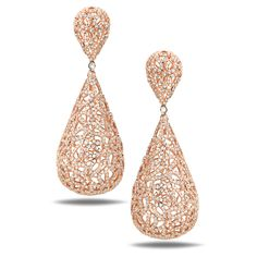 Casa Reale Earrings in 18KT ROSE GOLD 6.05TCW Diamonds Experience Royalty in Case Reale Jewelry.