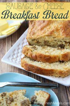 Savory Sausage Cheese Breakfast Bread