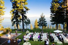 romantic Lake Tahoe wedding