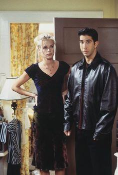 Cheryl (guest star Rebecca Romijn), Ross Geller (David Schwimmer) ~ Friends…