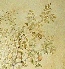 Pear Leaves Stencil