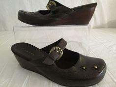 "Wear Ever ""Bare Traps"" Brown Leather Mule Clogs Women's Slip on Shoes-Size-9 M #BareTrapsWearEver #Mules"