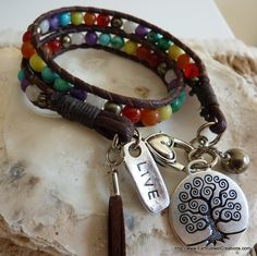 Chakra Balance Wrist Wrap - Inspirational handmade gemstone jewellery Earth Jewel Creations Australia