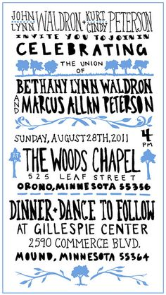 LOVE this wedding poster. LOVE.