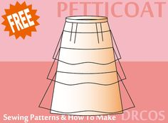 Petticoat Costume - Free Japanese Cosplay Sewing Pattern! You can learn to sew Japanese patterns at www.japanesesewingpatterns.com