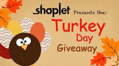 Enter for a chance to win our awesome Turkey Day Gift Basket!  http://blog.shoplet.com/giveaways/turkey-day-giveaway/