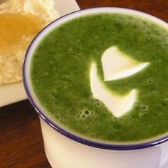 Cream of Spinach Soup @ http://allrecipes.co.uk
