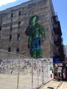 Baby Hulk NY my favorite piece of graffiti I saw