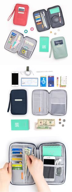 The Better Together Solid Wallet is a brilliant organizing pouch! With card slots and various sized pockets, it can become a great wallet, or can serve wonderfully as a writing tool cases, a makeup pouch, a crafting pouch and a travel pouch as well.