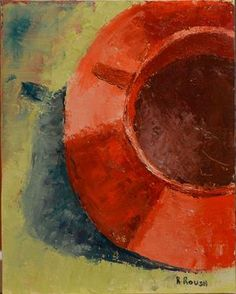 """Saatchi Online Artist Ramona Roush; Painting, """"Coffee Cup in Red"""" #art"""