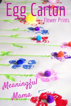 Egg Carton Flower Prints Crafts