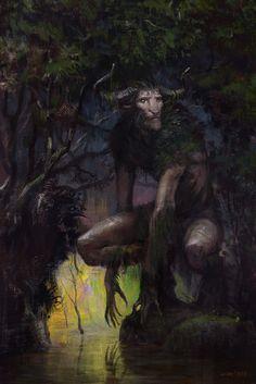 "aliapulchraes: ""  The Horned Guardian by Cristi Balanescu """