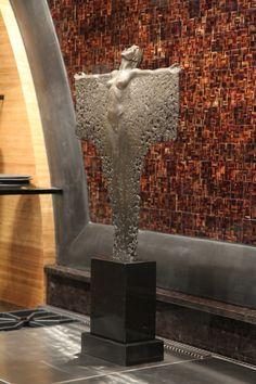 "Ascension, 22"". Bronze Figurative sculpture by sculptor Steven Whyte, Carmel, California. Www.facebook.com/stevenwhytecarmel"