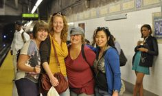 Wivineke, Sandra, Marloes and Serena in New York, at Vocal Jazz Trip, October 2013