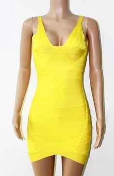 Women V Neck Backless Bandage Dress Celebrity Summer Sleeveless Red Party Dress Vestido
