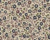 coupon tissu motif LIBERTY beige marron fairford : Tissus Habillement, Déco par mes-produits-jolis sur ALittleMercerie