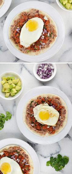 Eggs Jalisco. I think I'll substitute drained rotfl for the layer between egg & beans.