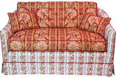 Floral Loveseat - One Kings Lane - Vintage & Market Finds - Furniture