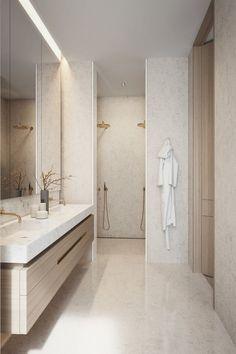Home Interior Warm Badezimmer Inspiration.Home Interior Warm Badezimmer Inspiration Bathroom Renos, Bathroom Layout, Small Bathroom, Bathroom Ideas, Warm Bathroom, Light Bathroom, Remodel Bathroom, Bathroom Cabinets, Bathroom Organization