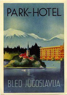 Lake Bled •Yugoslavia (Now Slovenia) _________________________ #Vintage #Travel #Poster