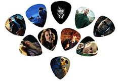 Guitar Picks With Grip Dava Guitar Shop, Guitar Picks, Cool Guitar, Harry Potter Shop, Harry Potter Characters, Harry Potter Presents, Guitar Pick Necklace, Guitar Photography, Cheap Guitars