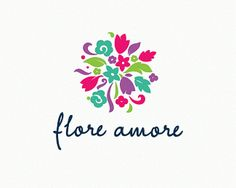 Puzzle pattern logo design: floreamore