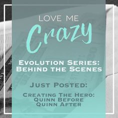 Want to know the whats and what nots of the contemporary romance Love Me Crazy by Camden Leigh? Access Week 2 of the Evolution Series: Behind the Scenes of Love Me Crazy and learn about Quinn Covington...who he was and wasn't  in the first drafts. The series contains never before seen cut scenes, character studies and why certain elements were chosen for Cassidy & Quinn's new adult southern love story. This book is available for download at Amazon http://amzn.to/2d29glZ  Available on…
