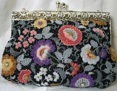 Japanese Bead Embroidery - Floral Evening Bag with Margaret Lee