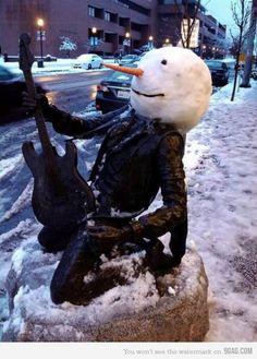Jimi Hendricks Snowman in Seattle! I Love Snow, Snow Much Fun, Winter Love, Winter Ideas, Winter Snow, Holiday Ideas, Fall Winter, Holiday Decor, Jimi Hendricks