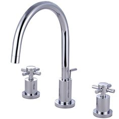 Found it at Wayfair - Concord Double Handle Single Hole Widespread Bathroom Faucet with Brass Pop-Up