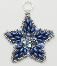 Deb Roberti's FREE Starlight Ornament Pattern #Seed #Bead #Tutorials