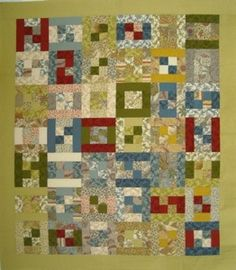 """Stripper's Delight-FREE pattern This quilt uses 2 1/2″ strips and the pattern comes with lots of options.A great scrap quilt you can make in whatever size you need.This pattern shows how to make several different variations on an 8"""" quilt block that uses strips that are cut 2 1/2"""" wide, such as those in a jelly roll. There are two different layout options included"""