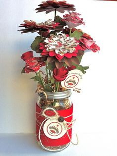 Sock Monkey paper flower bouquet